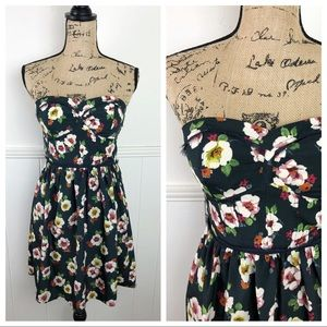 American Eagle Floral Strapless Dress Size 4